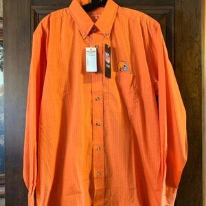 Cleveland browns long sleeve button down NWT!